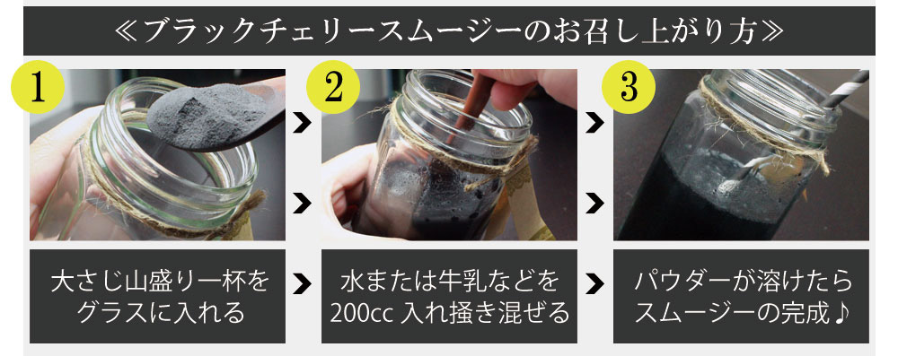 ブラックチェリースムージーダイエットの飲み方
